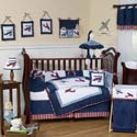 Vintage Airplane Crib Bedding Set
