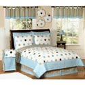 Modern Blue Polka Dot Twin Bedding
