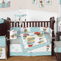 Balloon Buddies Crib Bedding Set