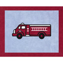 Fire Truck Accent Rug