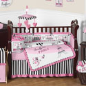 Paris Collection Crib Bedding Set