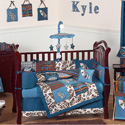 Surf Blue Crib Bedding