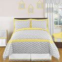 Chevron Yellow Full Size Bedding Set