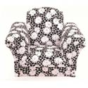 Black Deco Flowers Kids Chairs