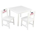 Personalized Aspen White Table and Chair Set