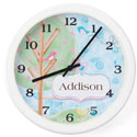 Personalized Birds Clock