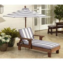 Striped Outdoor Chaise Lounger