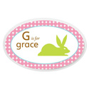 Personalized Girls Animal Oval Plaque