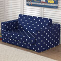 Navy Lil' Lounger with White Stars