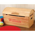 Personalized Rounded Top Storage Chest
