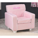 Personalized Pink Laguna Toddler Chair with Slip Cover