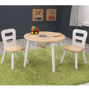 Round Table and Two Chair Set with Storage