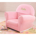 Personalized Pink Velour Rocker