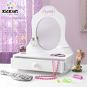 Personalized White Tabletop Vanity