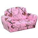 Pink Mossy Oak Sofa Sleeper