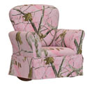 Pink Real Tree Kids Upholstered Rocker