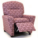 Pink Damask Recliner with Cup Holder