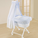 Baby in Blue Bassinet