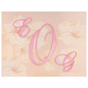 Fancy Cursive Wooden Wall Monogram