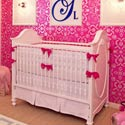 Fresh Hot Pink Accent Crib Bedding