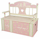 Rock-A-My-Baby Toy Box Bench