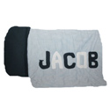 Blue and White Personalized Nap Mat