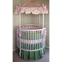 Audrey Round Crib Bedding