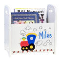 Personalized Train Book Caddy