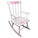 Butterflies & Flowers Personalized Rocker