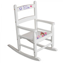 Personalized Pretty Pony Slat Rocker