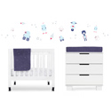 Galaxy 4-Piece Mini Crib Bedding Set