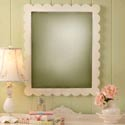 Scalloped Framed Mirror