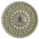 Laugh Play Sing Dance Wall Clock