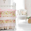 In Full Bloom 3 Piece Crib Bedding Set