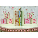 ABC & 123 Wooden Bookends