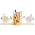 Birdies Wooden Bookends