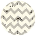 Chevron Gray Wall Clock