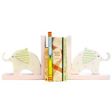 Elephants Wooden Bookends