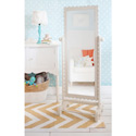 Scalloped Framed Floor Mirror