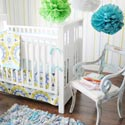 Personalized Indigo Summer Baby Bedding