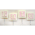 Pink Monogram Wall Hooks (Set of 2)