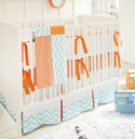 Personalized Orange Crush Baby Bedding