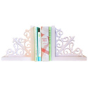 Vintage Pink Scroll Bookends