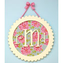 Round Scalloped Monogram Plaque
