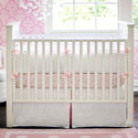 White Pique 3 Piece Crib Bedding with Trim