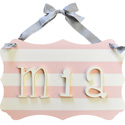 Wooden Stripe Name Plaque