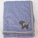 Elephant Jubilee Appliqu� Plush Blanket