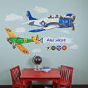 Airplanes Peel and Place Wall Decal