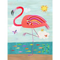 Flamboyant Flamingo Wall Art