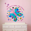 Jewel Butterfly Wall Decal